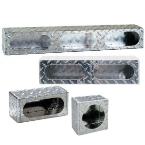 Enclosed Light-Mounting Boxes - Diamond Tread Aluminum