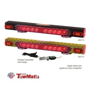 Towmate Wireless LED Tow Lights With Amber Turn Signals