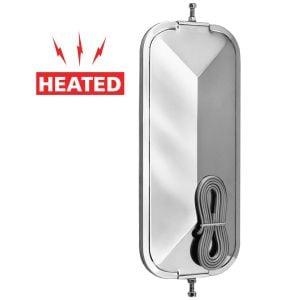 7 x 16 Heated Silver V-Back Mirror