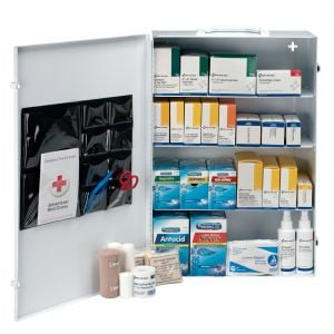 4 Shelf industrial first aid station