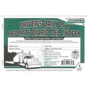 Bilingual Trucker's Daily Log Book (Single)