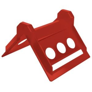 Corner Protector - 4 Inch - Plastic Red - Case of 60