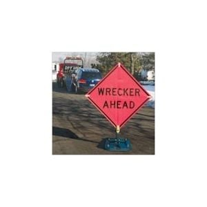 """TrafFix """"WRECKER AHEAD"""" Roll-Up Sign (Sign Only, Stands Sold Separately)"""