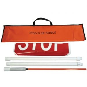 Roll-Up Stop/Slow Paddles