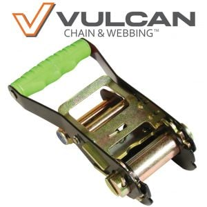 "VULCAN High-Viz Ratchet Buckle - 2"" Wide Handle, 3300 lbs. SWL"