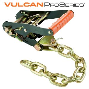 VULCAN PROSeries Ratchet - 2'' Wide Handle with Chain Tail - 3300 lbs. SWL