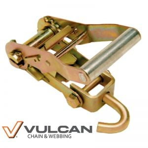 VULCAN 2'' Ratchet Buckle with Idler Hook, 3300 lbs. SWL