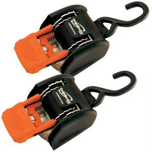 Cargo Buckle Retractable Ratchet Tie Downs (Pair)