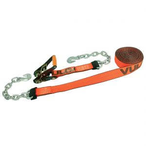 """VULCAN PROSeries 2"""" Ratchet Straps with Chain Anchors"""