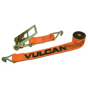 VULCAN Ratchet Strap with Wire Hooks - 4 Inch x 30 Foot - PROSeries - 5,400 Pound Safe Working Load