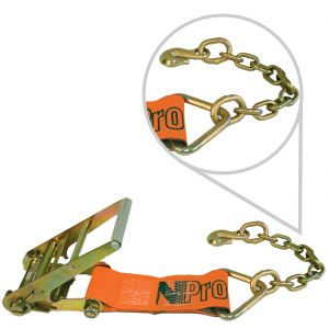 "VULCAN PROSeries 4"" Ratchet Strap Short End with Chain Anchor"