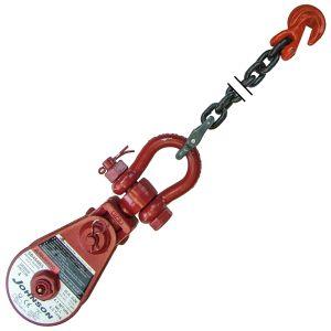 GUNNEBO JOHNSON 2 & 4 Ton End Blocks with Chain Anchor