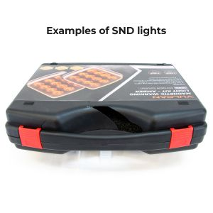 Scratch And Dent - Open Box - VULCAN Amber LED Flashing Warning Light Kit For Oversize Loads, Trucks, Trailers, SUVs And Boats