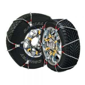 Scratch And Dent Tire Chains - 1 Pair - Carrying Case and Tensioners Included