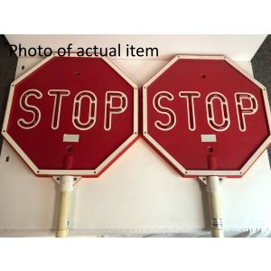 Standard LED Stop/Slow Sign - Scratch And Dent