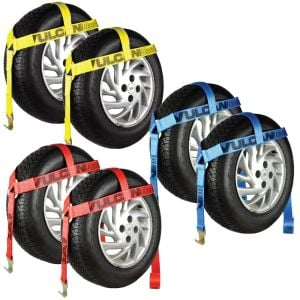 VULCAN Bonnet Wheel Dolly Tire Harness with Flat Hook, 1665 lbs. SWL, 2 Pack