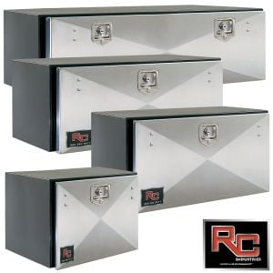 RCI Steel Underbody Toolboxes - Black with Stainless Door