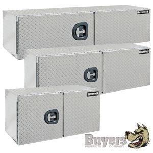 BUYERS Aluminum Underbody Toolboxes - Double Door