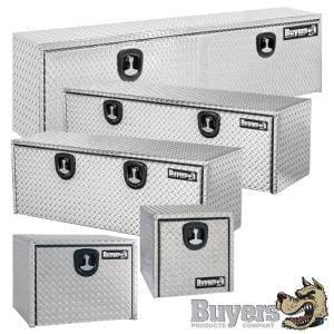 BUYERS Aluminum Underbody Toolboxes - Single Door