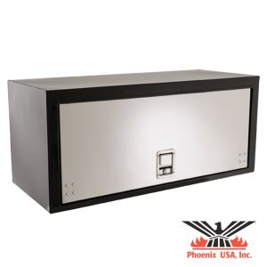 Underbody Steel Tool Box with Stowable Stainless Steel Door