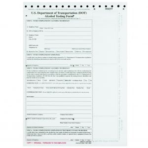 Alcohol Testing Form - US DOT Compliant
