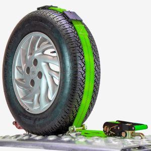 VULCAN High-Viz 120 Inch Rolling Idler 3-Cleat Car Tie Down - 3,300 Pound Safe Working Load