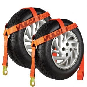 VULCAN Wheel Lift Harnesses with Snap Hooks - Bonnet Style - 2 Pack - PROSeries - 1,600 Pound Safe Working Load
