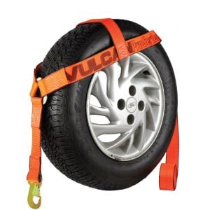 VULCAN PROSeries Bonnet Style Wheel Dolly Tire Harness with Snap Hook, 1665 lbs SWL