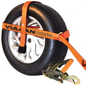 VULCAN PROSeries Adjustable Loop Car Tie Down Kits with Snap Hooks