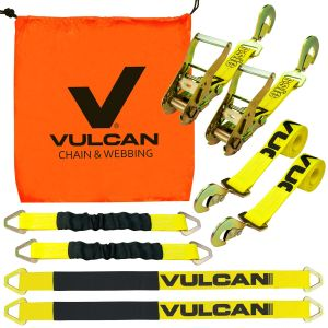 VULCAN Classic Yellow Series 2'' Complete Axle Tie Down System