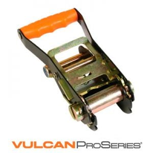 VULCAN PROSeries Ratchet Buckle - Black with molded handle, 3300 lbs. SWL