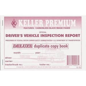 Carbonless Driver's Vehicle Inspection Report