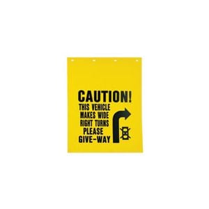 Caution Wide Right Turns Mud Flaps (sets of 2)