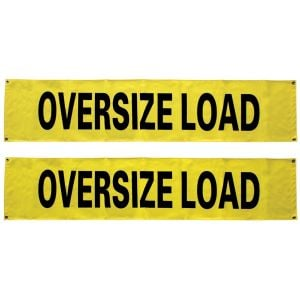 VULCAN Oversized Load Banner for Escort Vehicles (Solid), 2 Pack - 12 Inch x 60 Inch