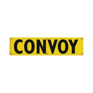 "Convoy Banner 12"" x 48"" For Escort Vehicles (Solid)"