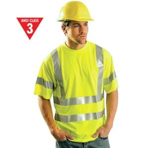 Class 3 High-Viz Polyester T-Shirt - Lime