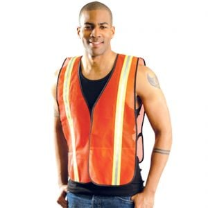Deluxe Orange Economy Vest with Pockets