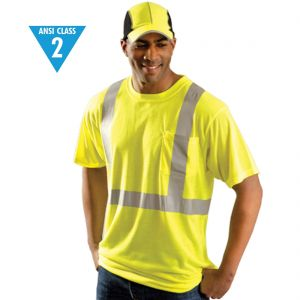 Reflective ANSI Class 2 Wicking T-Shirt (Orange or Lime)
