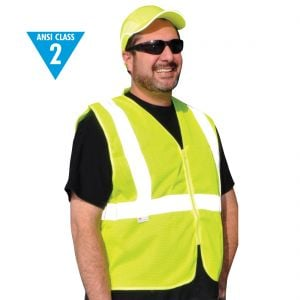 Class 2 Zipper Front Safety Vest