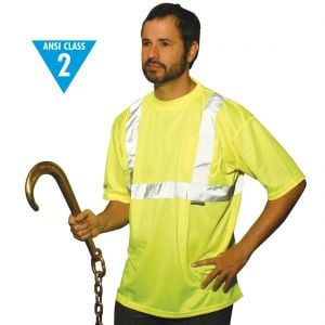 Class 2 Lime Reflective Short Sleeve Safety T-Shirt