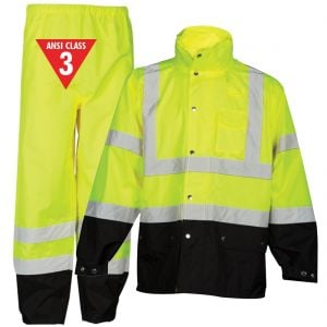 Class 3 Storm Cover Reflective Rain Suits