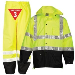 Class 3 Storm Stopper Pro Reflective Rain Suits