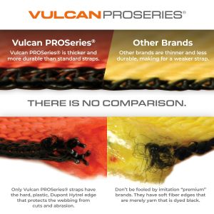 VULCAN Winch Strap with Flat Hook - 4 Inch x 30 Foot - PROSeries - 5,400 Pound Safe Working Load