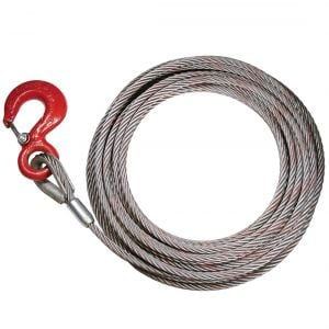 "PROSeries Steel-Core Fixed Hook Winch Cable - 3/8"" x 75'"