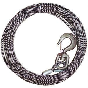 BEST VALUE! Fiber Core Winch Cables - Swivel Hook