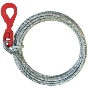Premium Steel Core Winch Cable with Self Locking Hook