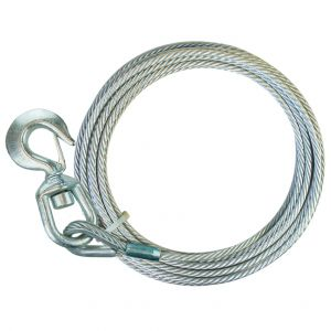 Premium Galvanized Steel Core Winch Cables with Swivel Hooks