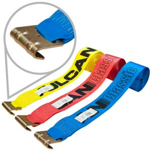 """4"""" Winch Straps with Flat Hooks"""