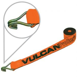 VULCAN PROSeries Heavy Duty Winch Strap With Wire Hook (4'' x 30')