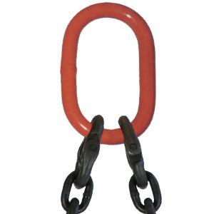 "9/32"" G80 Double Leg Mechanical Lifting Slings with Sling Hooks"
